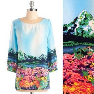 ⭐️NEW ARRIVAL ModCloth Mountain Print Tunic Blouse